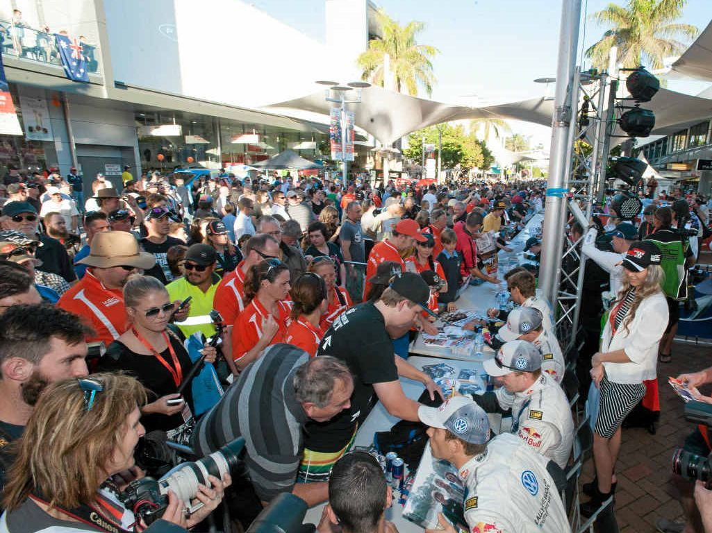RALLY SHOW: Get down to the Coffs Harbour city centre on Thursday afternoon for your chance to meet the drivers in the World Rally Championship.
