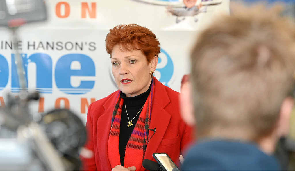 """ROCKY INTERVIEW: Pauline Hanson when she flew in to Rockhampton as part of her """"Fed Up"""" tour."""