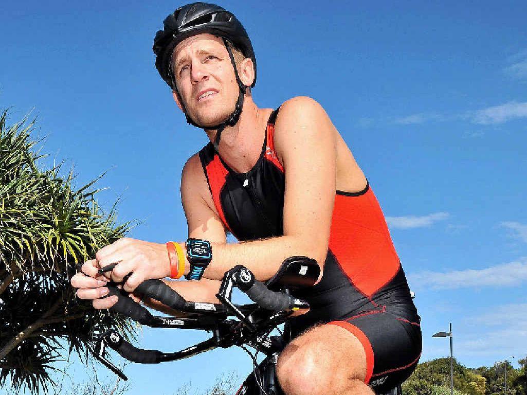 INSPIRING EFFORT: Triathlon competitor Michael Blinkhoff has dedicated himself to the sport.