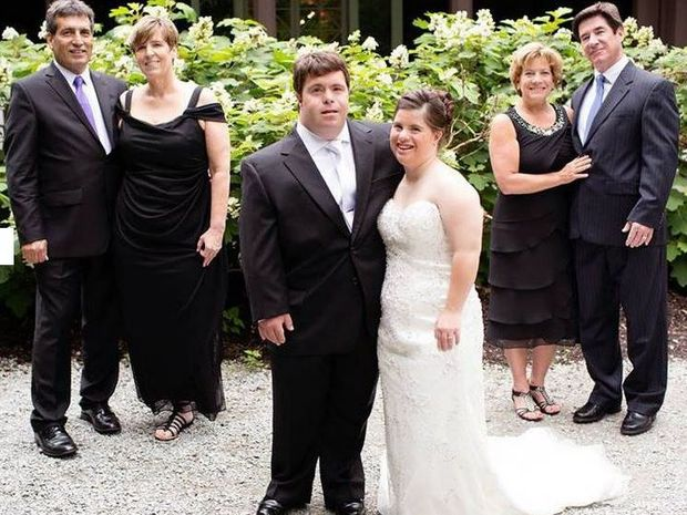 Paul Daugherty, far left, penned the letter to his 25-year-old daughter Jillian, centre left, ahead of her wedding
