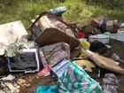 Rubbish dumped beside Lagoon Pocket Rd