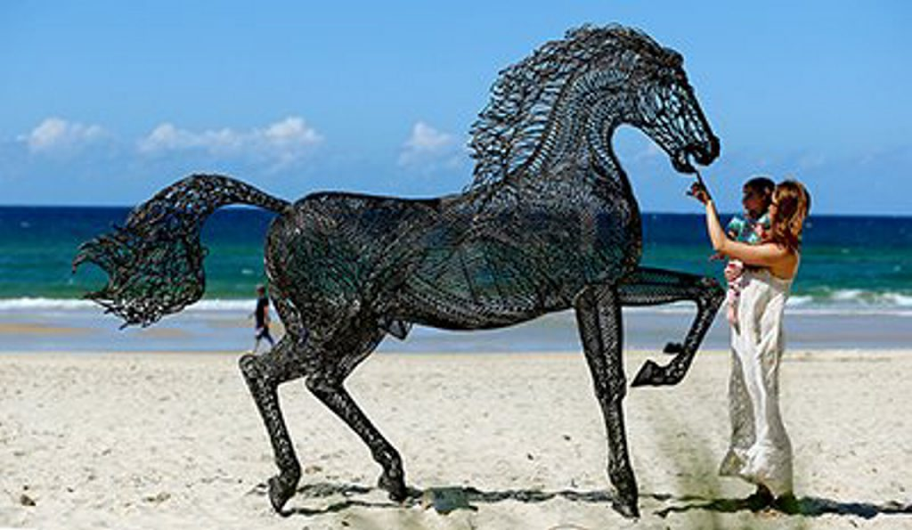 There has been an eclectic range of sculptures during the dozen years of Swell.