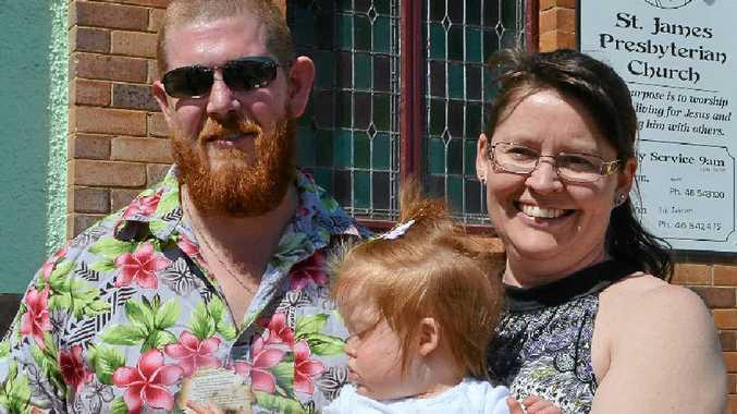 THE SURVIVOR: Tony with his wife Barbara and daughter Elizabeth Eden.