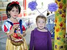 Charlotte MacDonald as Snow White and Jana Lofts dressed as a snail at St Joseph's Primary School Murwillumbah's book week expo on Wednesday, September 9. Photo: Liana Turner / Tweed Daily News