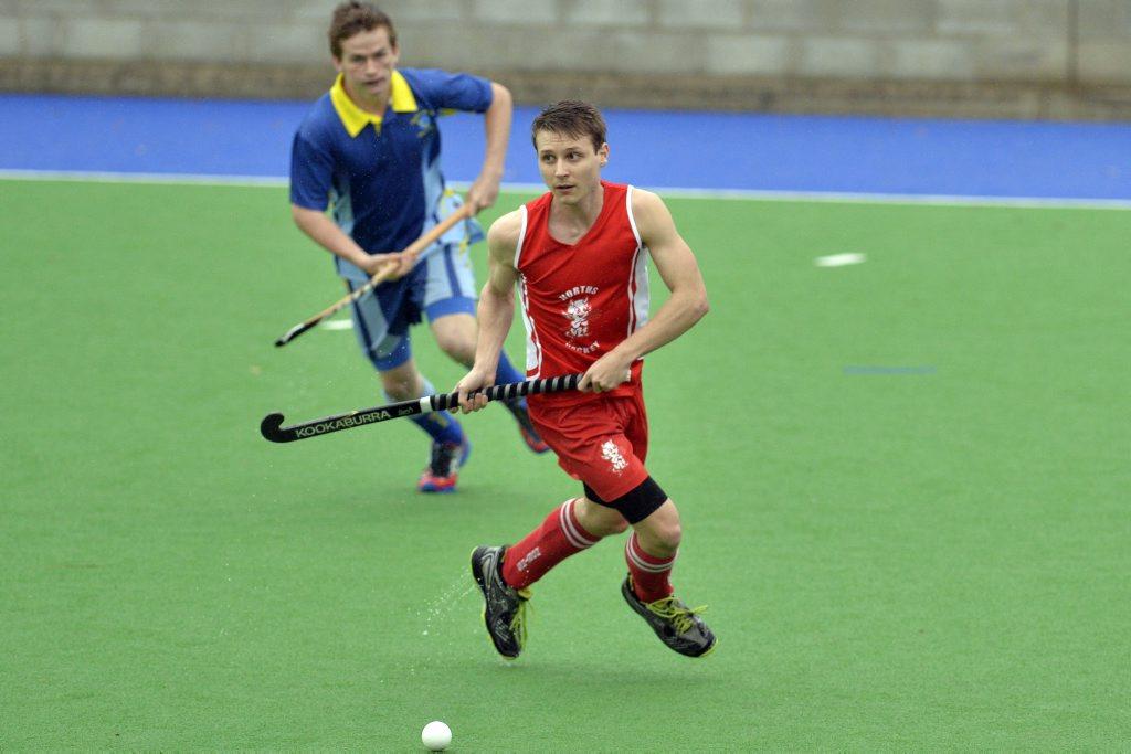 A-Grade men's hockey Norths v Hancocks. Jeremy Dalais (Norths). Photo Inga Williams / The Queensland Times