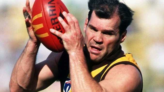 1997: Jason Dunstall #19 for Hawthorn in action during the 1997 AFL season Mandatory Credit: Allsport Australia/ALLSPORT