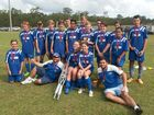 Sunbury Blues' under-15s team that competed in the grand final. Photo Contributed