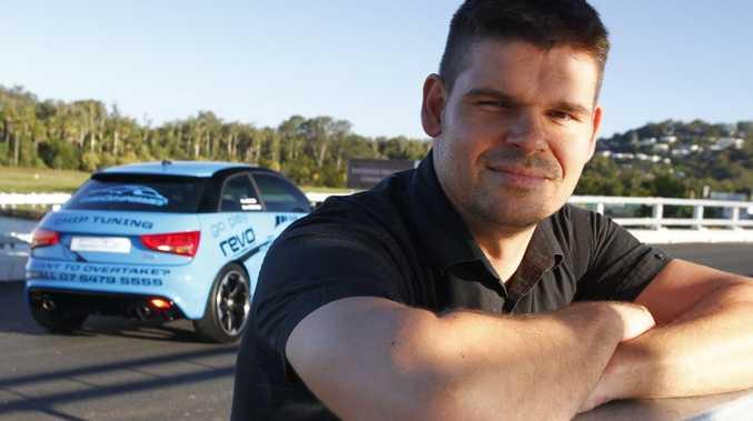 Martin Westwood with his Euro Car Upgrades' Audi A1. Photo: Iain Curry / Sunshine Coast Daily