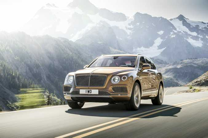 RICH RIDE: Australians bought 55 Bentley Bentayga luxury SUVs in 2016. They have a starting price of $423,600.