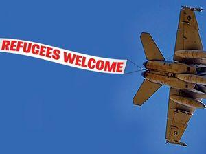 STRANGE POLITICS: Droppin' bombs and takin' refugees