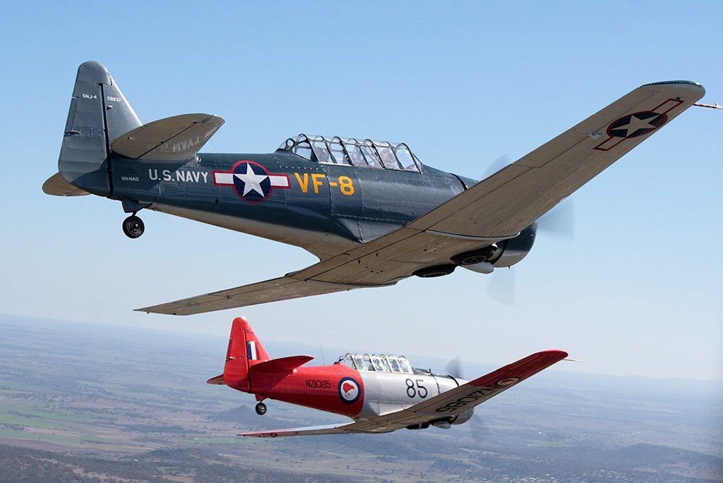 FLYING HIGH: Vintage military aircraft will be soaring above Kingaroy.