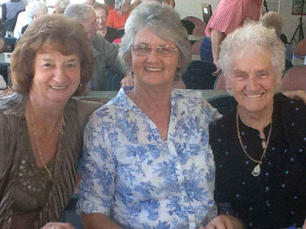 Ellen and Colleen Maidens and June Hooper snapped enjoying the Bargara Over 50s Seniors Social Group event.