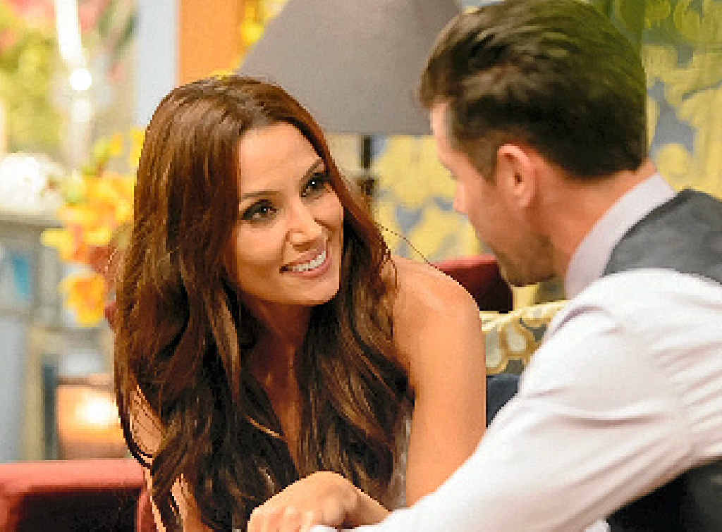 Snezana and Sam in a scene from The Bachelor.