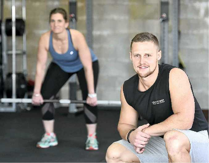 GETTING FIT: Gym owner and personal trainer Ben Loxley trains Toni Chardon at the Complete Body, Health and Fitness Centre.