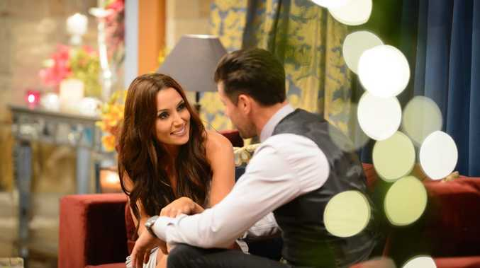 Snezana and Sam Wood in a scene from The Bachelor.