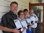 SERVICE AWARDED: Biggenden's Local Ambulance Committee members John Hoyes, Julie Cooper, Barbara Sharps and Gin Gin's Geoff O'Hanlon.