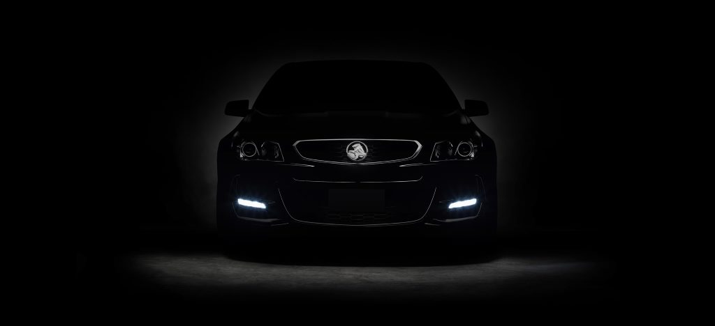 TEASE ME: Darkened front end of the final Aussie-built Commodore - the VFII - has been released by Holden ahead of its full reveal this Sunday.