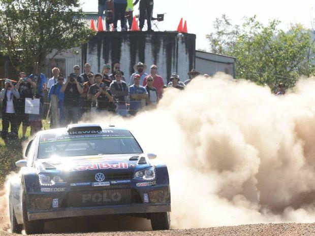 DUSTY DEMON: World Rally Champ Sebastien Ogier at Rally Australia last year.
