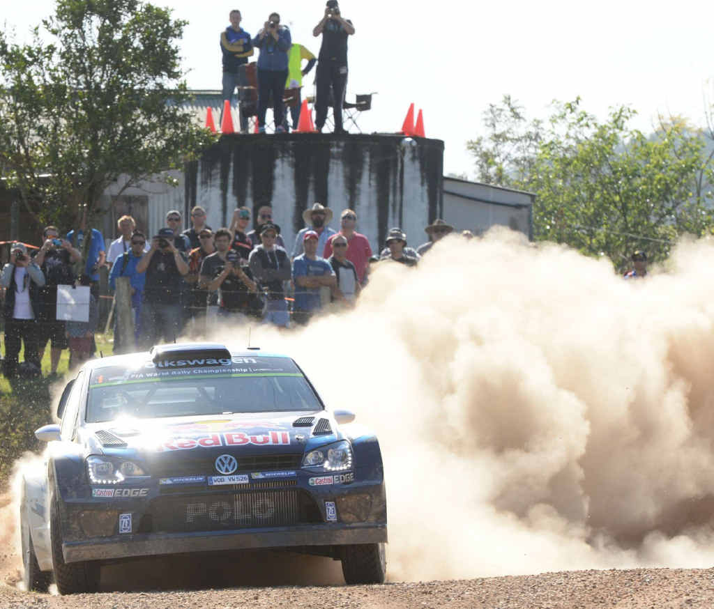 DUSTY DEMON: World Rally Champ Sebastien Ogier at Rally Australia last year.