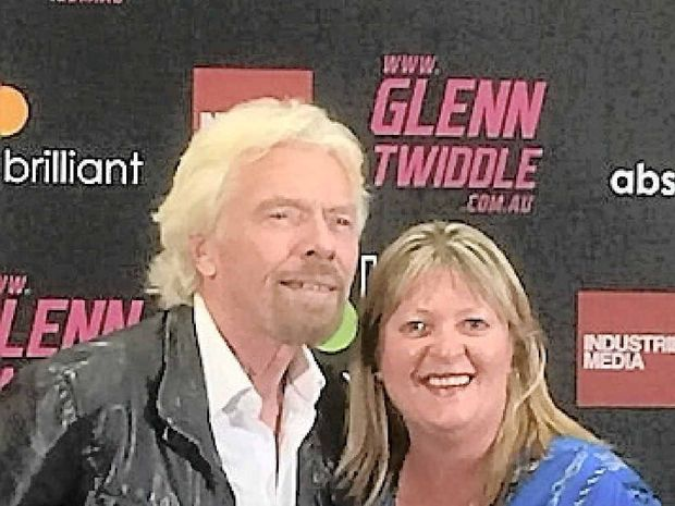 AN INSPIRATION: Tinnanbar's Jeanette Nugent with her business inspiration Sir Richard Branson.