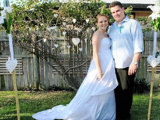 KEEP THEM GUESSING: Newlyweds Danielle and Andrew Karlsen invited their friends and family to a birthday party which turned out to be their wedding.