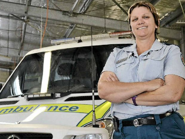 LIFE SAVER: Danielle Almond is just one of the hard working paramedics at Warwick Ambulance station.