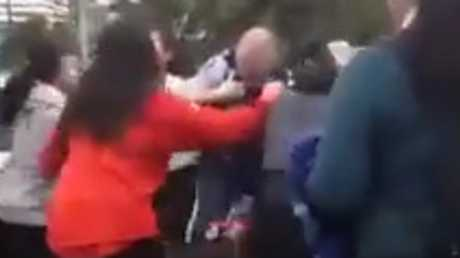 The fight was captured on video and posted on social media. Photo / Facebook