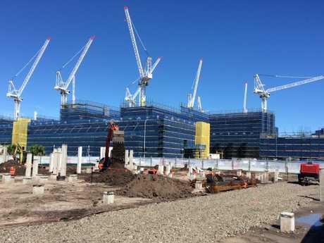 Kawana hospital construction site