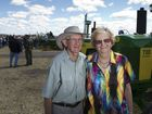 Trevor Muller and Betty Muller are on site to see their 50 John Deere tractors sold at auction, Saturday, September 12, 2015. Photo Kevin Farmer / The Chronicle