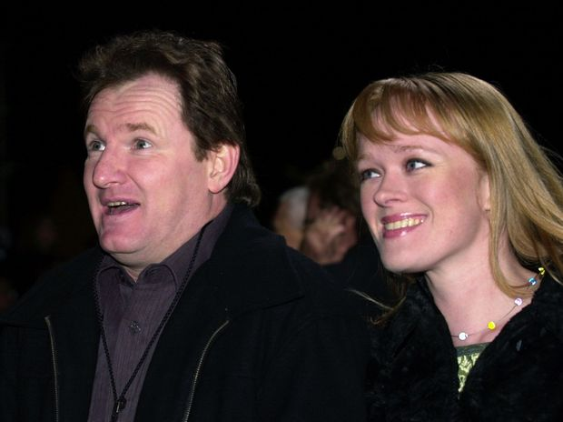 Mission Impossible 2 Film Premiere at Fox Studio's. Australian comic Russell Gilbert with his partner.