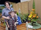 Melina and Dominic, 9, at the Laidley Spring Festival. Photo Inga Williams / The Queensland Times