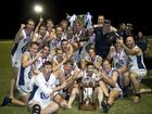 Coolaroo celebrate their win in the AFLDD Grand Final Coolaroo vs Goondiwindi.