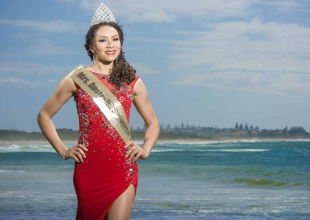 INSPIRED: Mrs Universe Australia Joelle Webber returns to her home in Angourie after competing in the world title in Belarus.