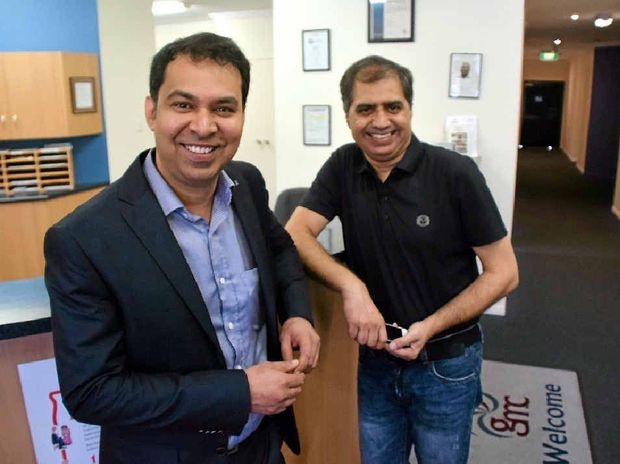 POSITIVE WORK: Orthopaedic surgeon Dr Rishi Kaushal and Gladstone Medical Centre practice owner Dr Avinder Joshi are bringing more medical services to Gladstone.
