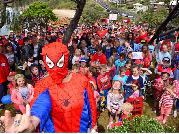 LEADING THE WAY: Walk for William started in Coolum and almost 200 people turned out in support.