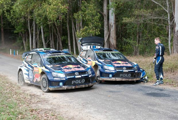 FAST FRENCHIE: Ogier during Rally Australia, an event he would win to claim his third WRC title behind the wheel of a VW Polo.