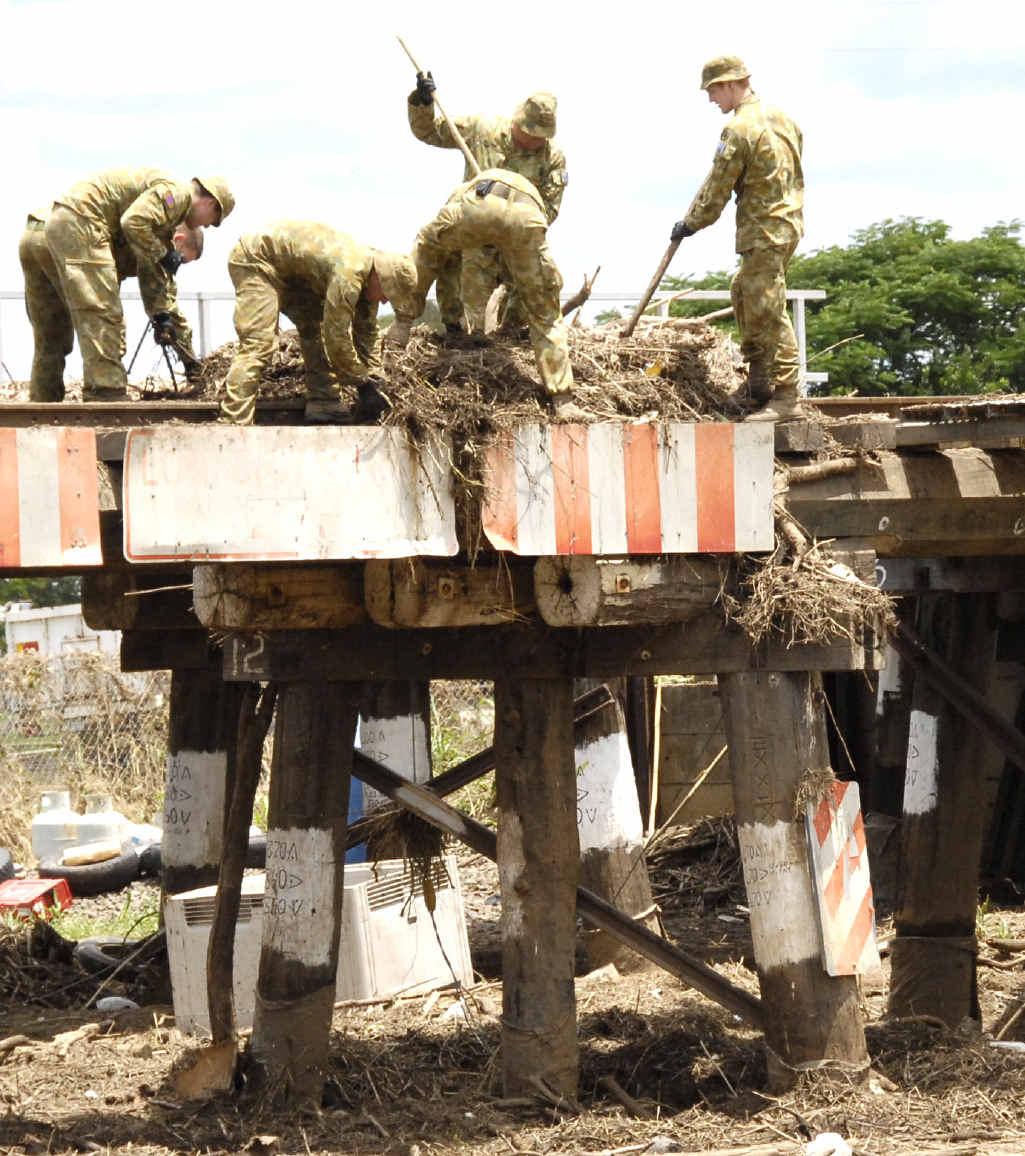 AFTERMATH: The clean-up begins after the devastating 2011 Grantham flood.
