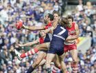 Adam Goodes of the Sydney Swans during the 2015 AFL Finals Series in the qualifying final at Domain Stadium between the Fremantle Dockers and Sydney in Perth on Saturday, Sept. 12, 2015. Fremantle won the match 69-60.