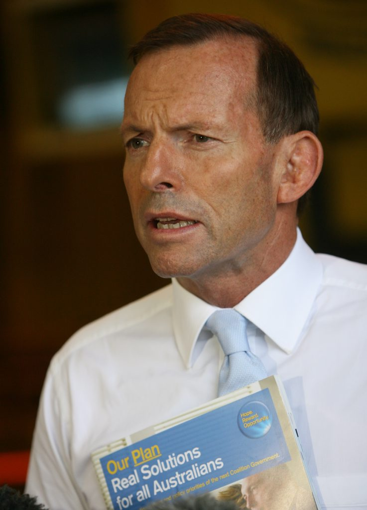 Former Prime Minister Tony Abbott has denied Ms Bishop's recollection of the Choppergate saga