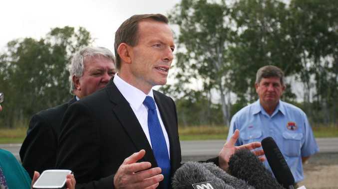 Prime Minister Tony Abbott in Rockhampton