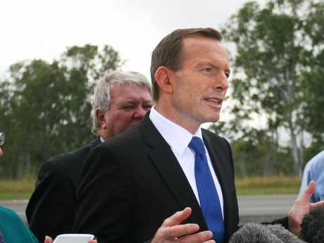 Tony Abbott, as Opposition Leader, visits Rockhampton