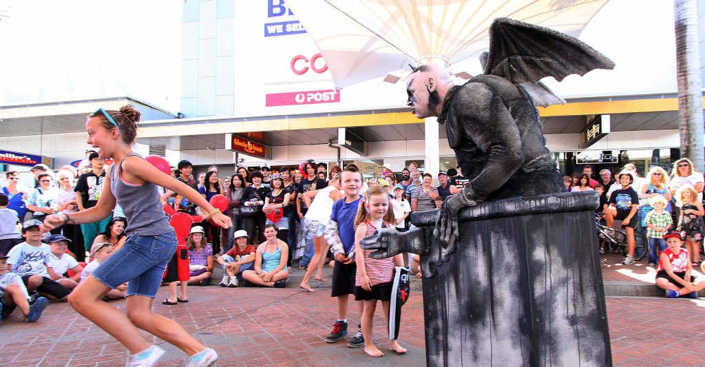 CROWD FAVOURITE: Gargoyle will be a hit once more at the Coffs Harbour International Buskers and Comedy Festival.