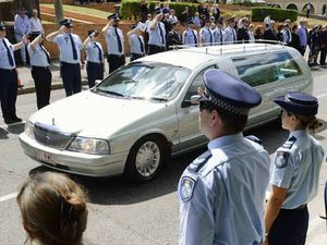 Boys in blue farewell Ipswich police legend at funeral