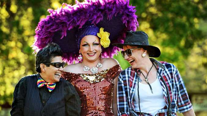 FABULOUS: (From left) Jinky Mactal , Saphira Von Wilde and Nicole Wittig, looking forward to the Tropical Fruits Fruitopia Fairday at the Lismore Showgrounds.
