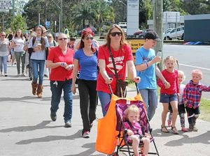 Big crowd turns out at Kyogle to walk for William Tyrrell