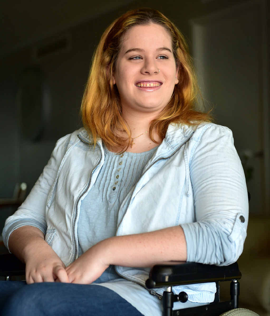 DOING IT TOUGH: Jaimie Joblin, of Caloundra, suffers from lyme disease and is asking the community for help to buy a wheelchair.