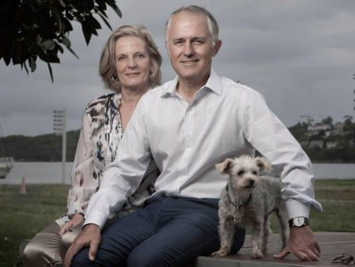 Malcolm Turnbull and wife Lucy.