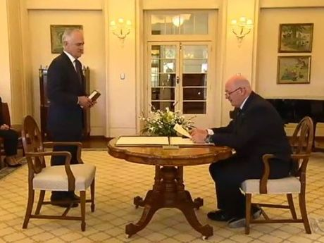 Malcolm Turnbull is sworn in as PM.