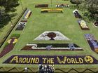 Bird's eye view of spectacular Carnival of Flowers parks