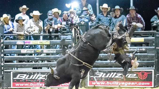 HOLD ON: The Professional Bull Riders will return to Bundy later this month.